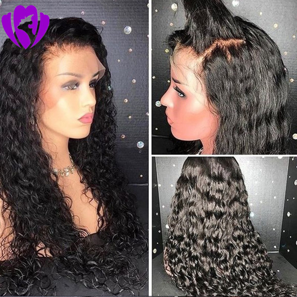 Free part loose curly Synthetic Lace Front Wigs Black/brown/blonde Ombre color Hair Long Black Wig for Women Heat Resistant Fiber
