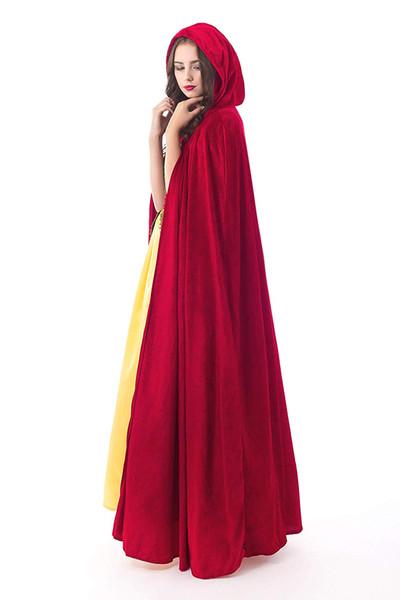 Deluxe Velvet Adult Cloak Cape with Lined Hood Medieval Renaissance Cape