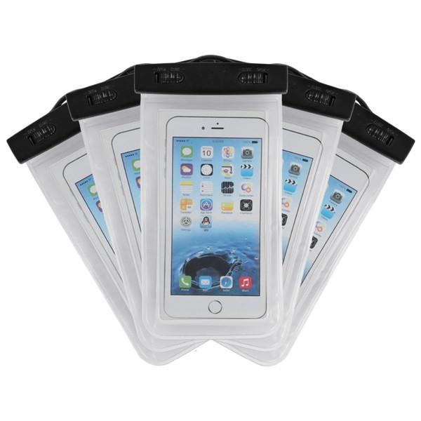 eb8618a9b9e Para Samsung J7 PLUS bolso a prueba de agua Bolsa funda de PVC resistente  al agua
