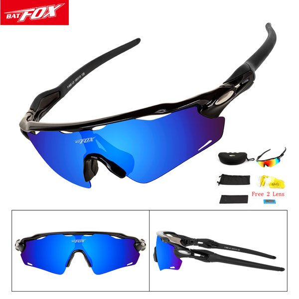 Batfox Polarized Cycling Glasses 3 Lens Bike Glasses Eyewear UV400 MTB Outdoor Sport Sunglasses Men Women Oculos Gafas Ciclismo