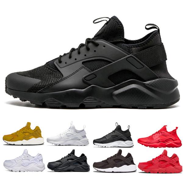 Cheap Sale 2018 Huarache Running Shoes Men women Triple White Black red Grey mens womens Huaraches trainer sports shoes Sneakers size 5.5-11