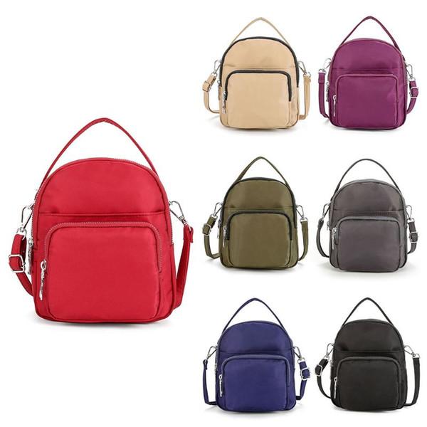 THINKTHENDO Fashion Nylon Crossbody Mobile Phone Shoulder Bag Pouch Case Belt Handbag Top Handle Bags Purse Wallet