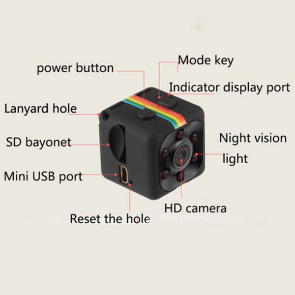 SQ 11 HD 1080P Mini Camera CMOS Sensor Night Vision Camcorder Car Home Security Micro Camera cam DVR DV Motion Recorder