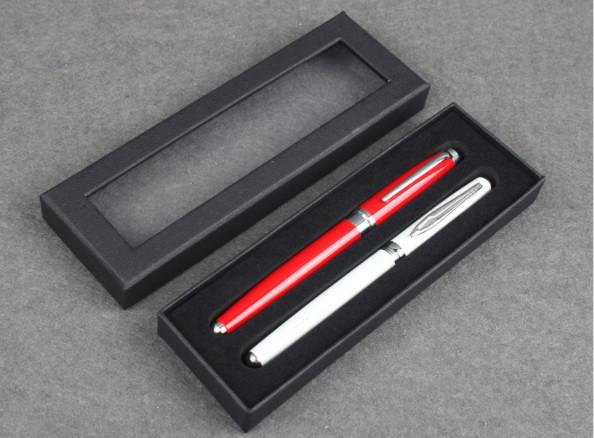 Transparent window high-grade pen case Heaven and earth cover paper gift box Universal pen box Can print logo