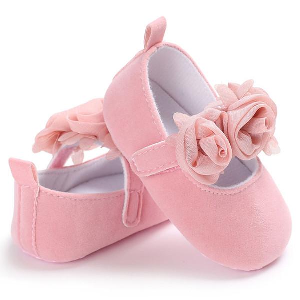 Venda quente 1 Par Crianças Crianças Baby Girl Shoes Macios Walkers Aprendem Moda Para 0-1 Anos de Dança Antiga