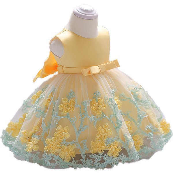 2018 vintage Baby Girl Dress Baptism Dresses for Girls 1st year birthday party wedding Christening baby infant clothing bebes Y18102007