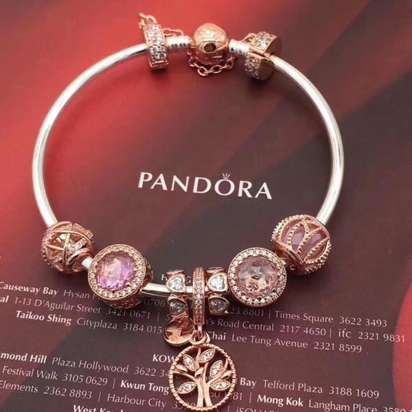 bracciale pandora oro rosa 23 cm