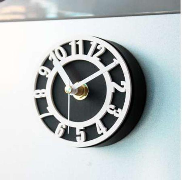 Симпатичные Номера Холодильник Настенные Часы Творческий Холодильник Магнит Часы Свежие Магнитные Наклейки Часы Холодильник Декор Настенные Часы