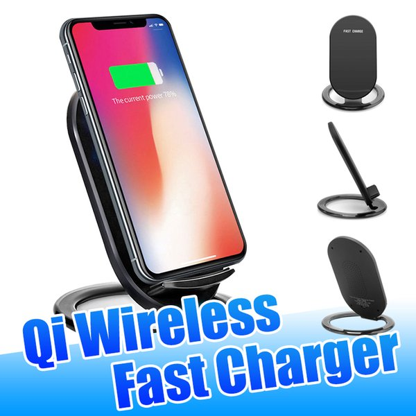 2 Coils Qi Wireless Charger High Quality 9V N900 Fast Charing Holders Stand for iPhone 11 XR Samsung Note 10 with Retail Package