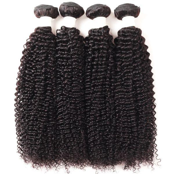 Ishow Cheveux 9A Cheveux Brésiliens Crépus Bouclés Faisceaux 4pcs