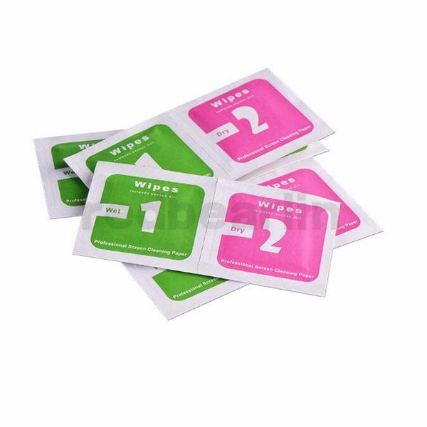 Nettoyage à sec écran lingettes humides Tissu pour Protections d'écran en verre trempé Accessoires alcool Tapis de nettoyage d'écran mobile Tissu Absorbeur poussière
