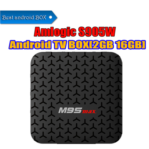 2018 Best Android Tv Box Amlogic s905w M9S MAX 2GB 16GB WiFi Lan 4K Free Movies streaming Cutsom Logo television Media Box