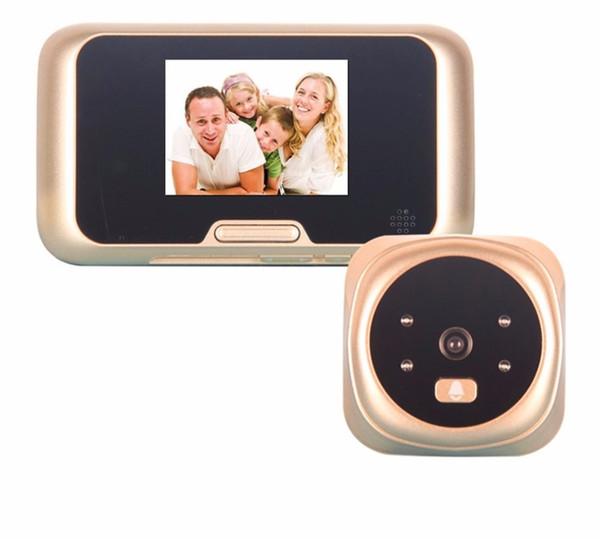 3.0 pollici TFT LCD digitale senza fili Campanello Zoom Camera Peephole Viewer 4 LED IR con versione notturna Campanello QR-09