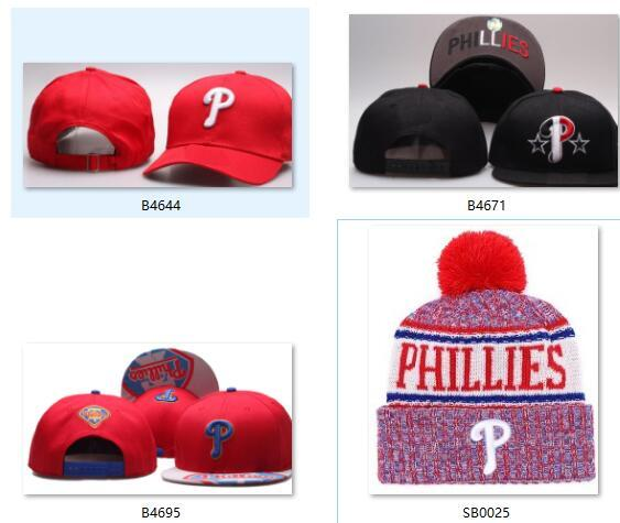 Discount Phillies Beanie Snabapck Phillies cap strapback Sideline Cold Weather Sport Knit Hat winter Knitted Wool Skull Cap