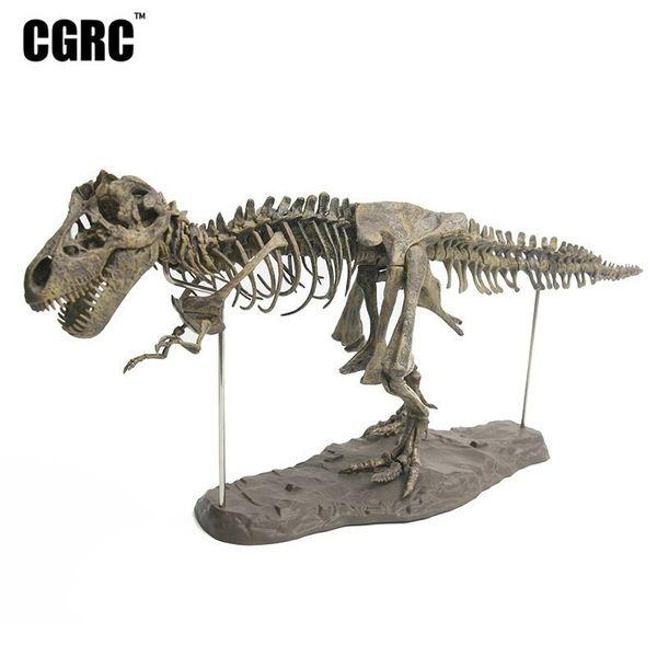 PVC Plastic Simulation Tyrannosaurus Fossil Dinosaur Skeleton Model Office Decoration Children's Teaching Toys