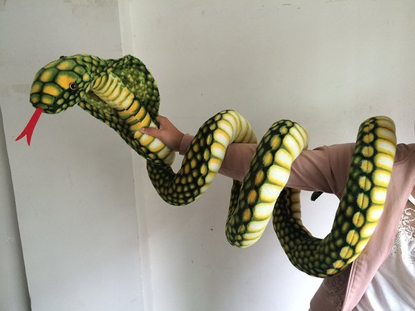 2019 Snake Plush Stuffed Animal Best Business Gifts For Your Children,Boys,Girls and Friends ,Green
