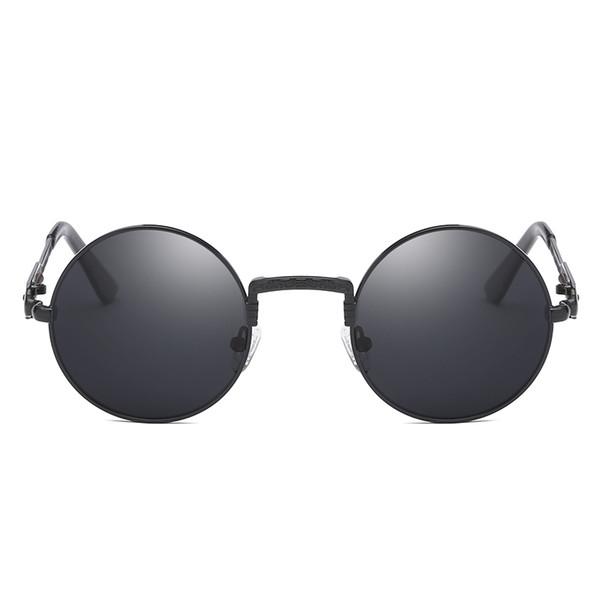 Zarif Vintage Yuvarlak Çerçeve Güneş Kadınlar Ve Erkekler Metal Serin Güneş Gözlükleri Retro Klasik Güneş Gözlüğü Alaşım Trendy Gözlük 2018
