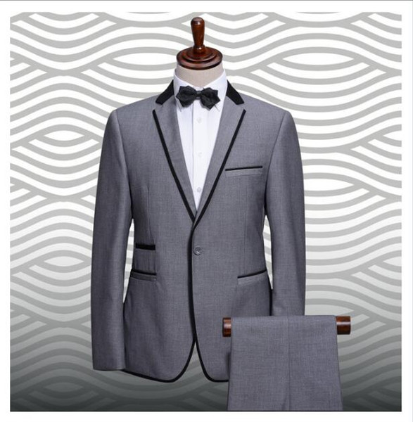 Customized fashion new slim men's suit, men's business suit, standard size chart and a variety of colors to choose from
