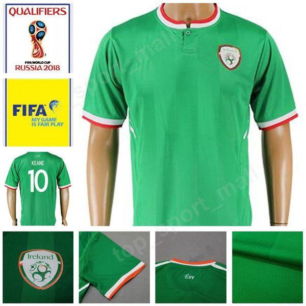İrlanda Futbol Forması 2018 Dünya Kupası Takım Yeşil 10 Robbie Keane 9 Shane Uzun 2 Seamus Coleman Futbol Gömlek Üniforma Kitleri 11 McCLEAN 13 HEND