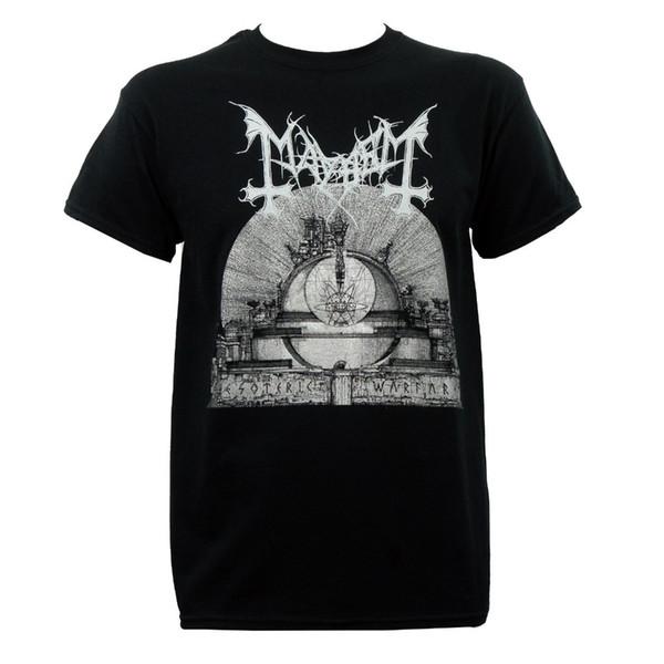 Neueste Lustige Authentische MAYHEM Band Esoterische Kriegsführung Album Kunst T-Shirt S M L XL 2XL NEUE Sommer Freizeitkleidung