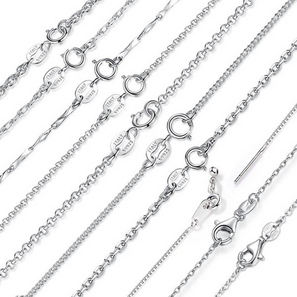 Classic Basic Chain Lowest Price 925 Sterling Silver Box Chain Necklaces Lobster Clasp Adjustable Necklace Chain Fashion Jewelry