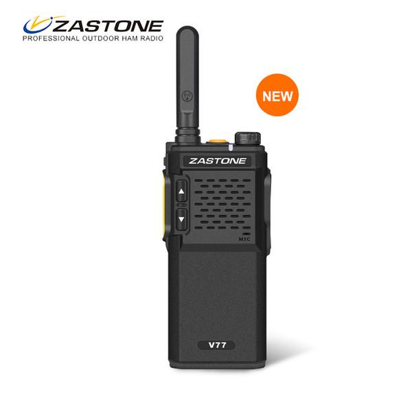 Zastone V77 Mini Walkie Talkie 1500 mAh UHF 400-470 MHz Preto em Dois Sentidos de Rádio Portátil Walkie-Talkie Handheld Transceptor de Rádio