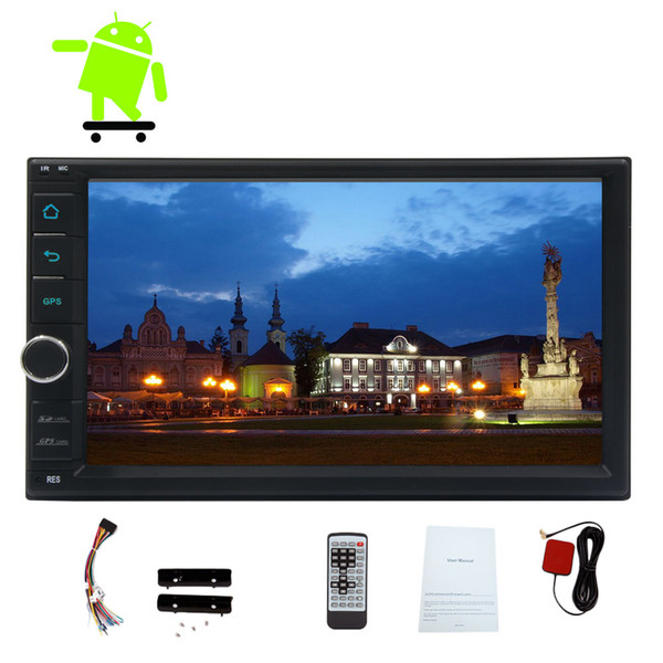 Evrensel Android 6.0 sistemi Quad-core Araba GPS Navi Araba Stereo Radyo Dash Autoradio No-DVD Çalar Bluetooth FM RDS Alıcı HeadUnit 7 ''
