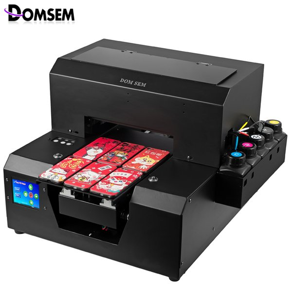 New Updated LCD Touch Screen A4 UV Flatbed Printer InkJet Impressora Sublimation Good After Sales Service Free ink Free Shipping
