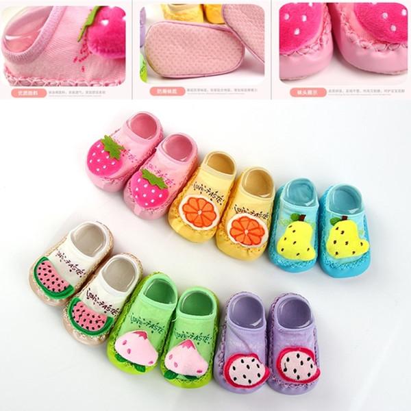 Kids Baby Socks 3D Infant Korean Style First Walk Fruit Girls Mix Color Toddler Newborn Children Cute Slippers