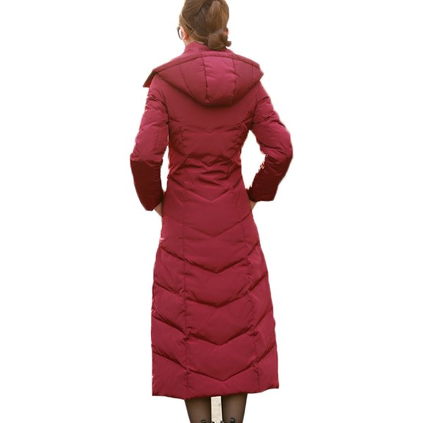 6788ab7a5 2018 Hijklnl Padded Winter Down Jacket For Women White Duck Down Coat 2017  Long Puffer Coat Silm Thicker Down Parkas Hooded Lz351 From Z02a, $145.72    ...