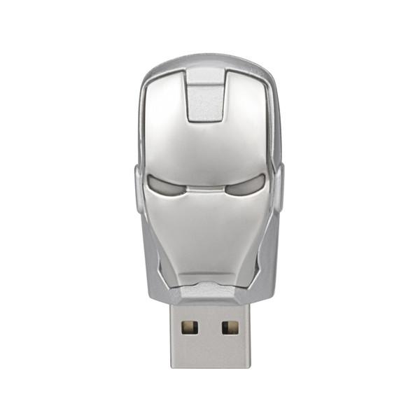 Free Shipping 10PCS/LOT 16GB LED Iron Man USB Flash Drives Thumb Pen Drives Storage for PC Laptop Tablet 16gb USB 2.0 Memory Stick Silver