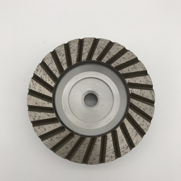 top popular Aluminum Turbo Cup Wheel 4 inch (100 mm) Silent Core Single Row Cups for Granite Coarse Grinding Wheel Thread M14 2021