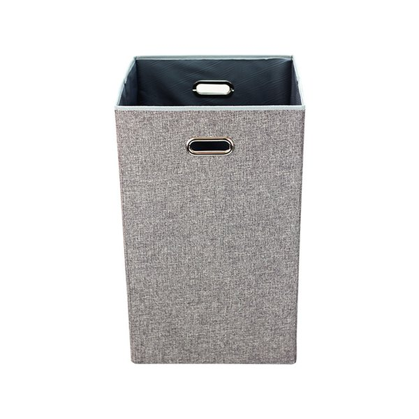 Home Single Laundry Hamper without Lid and Removable Liner Linen Easily Transport Laundry Foldable Hampers Cut Out Handles 35*36*59cm