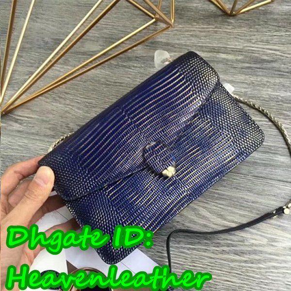 DB- sherryfactoryoutlets!!! Lizard pattern gem blue best A+quality B*lga Totes . 100% Lizard pattern design bag. size:22cm