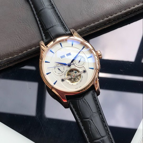 MAN Rose gold BACK glass Year, month automatic mechanical fashion men watch wholesale luxury brad new Stainless steel Mens watches
