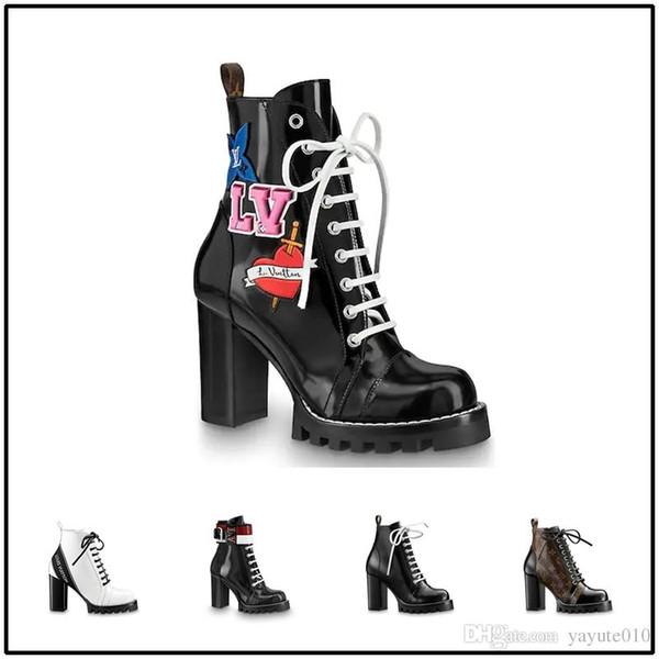 Nova moda 2018, mid-boots, botas femininas, designers high-end, couro cheio de lazer confortável sapatos, super salto alto 9,5 cm 35-42
