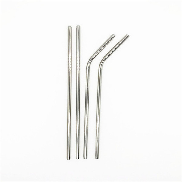 Eco-friendly 304 Stainless Steel Drinking Straws 8MM Reusable Straws UK 9.5 Inch Stock Drinking Straws