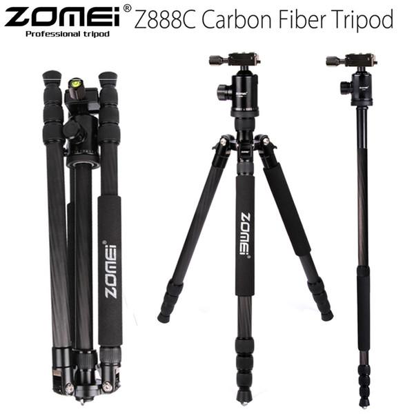 ZOMEI Z888C Professionelle Carbon Reise Stativkamera Einbeinstativ Kugelkopf mit Tasche für DSLR Kamera