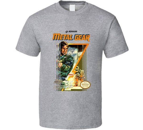Männer Lastest 2018 Mode Kurzarm Gedruckt Metall Getriebe Schlange Nes Box Kunst Video Spiel T-shirt sommer Heißer Verkauf Neue T-shirt Drucken