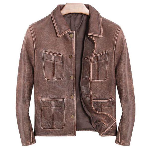 2018 Von Echtes Männliche Marke Größe Winter Jacken Männer Kleidung Plus Großhandel Für Mens Retro Motorräder Vintage 5xl Leder Mantel jLMqUVpSzG