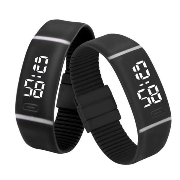 Splendid Luxury Electronic Watch Watches Mens Womens Rubber LED Watch Date Sports Bracelet Digital Wrist relogio masculin
