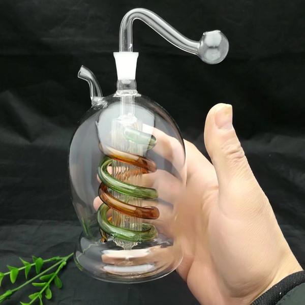 Snuff garrafa De vidro Bbong Wwater Tubo Titanium prego moedor, Borbulhadores De Vidro Para Fumar Tubulação Mix Cores