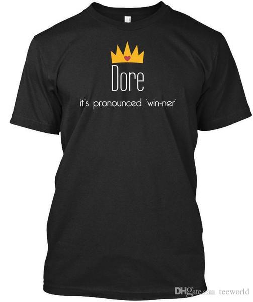 Dore Its Pronounced Win Ner T Shirt Élégant T Shirt Men Boy Crazy Short  Sleeve Cotton Custom 3XL Couple T Shirts T Shirt Slogan Daily T Shirts From
