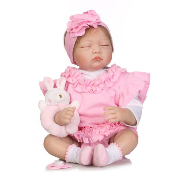 "8/"" Mini Reborn Baby Girl Doll Lifelike Newborn Soft Silicone Vinyl Handmade Gift"