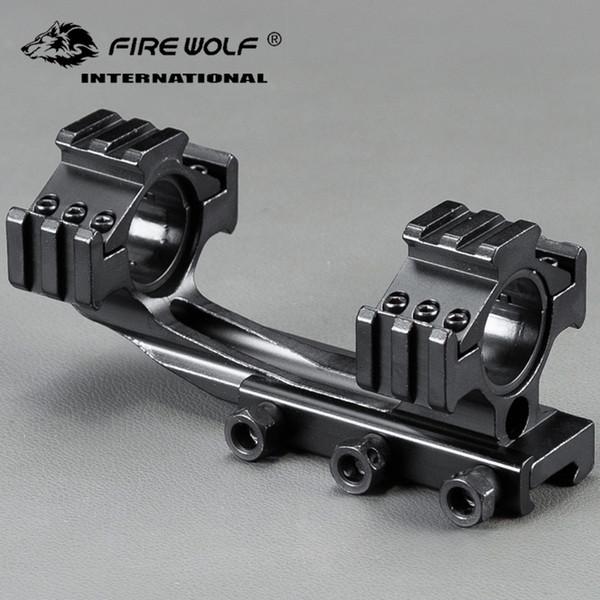 25.4mm / 30mm Anneau Tri-Side Mount Cantilever Double Anneau Visible Scope Sight Fixture Fit 20mm Rail Chasse