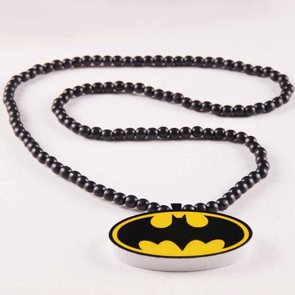 Fashion Hip Hop Men Long Good Wood Necklace Jewelry Pendant Wood Beads Necklace