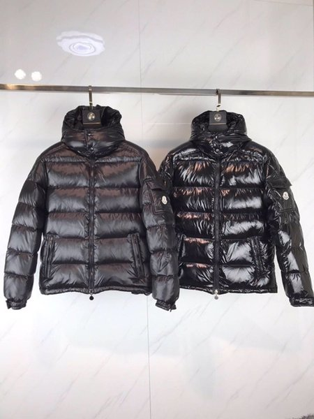 Quality quality Luxury MAYA Mens Brand European Size 90% Goose Solid Color black Parker Coat Down Jacket Men women Outdoor Sports Cold Warm