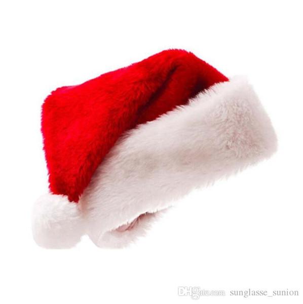 42163d5a517 Sombrero de Papá Noel Rojo de alta calidad Ultra Suave Felpa Navidad  Cosplay Sombreros Decoración de