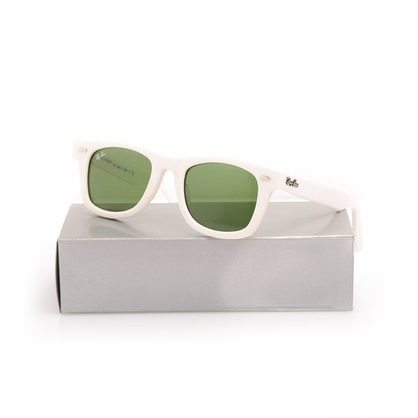 White Frame Green Lens 50mm