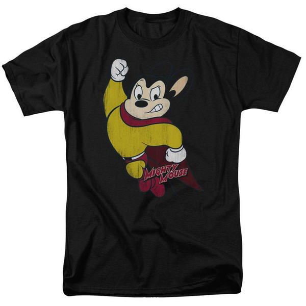 Mighty Mouse CLASSIC HERO Vintage Style Licensed Adult T-Shirt All Sizes